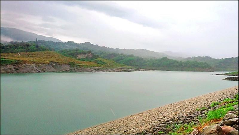 湖山水庫蓄水量已回升至31.5%。(記者林國賢翻攝)