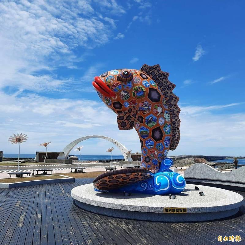 觀光客不來,許多美景成為澎湖人獨享。(記者劉禹慶攝)