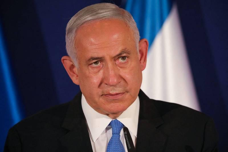 以色列總理納坦雅胡可能結束執政。(法新社)