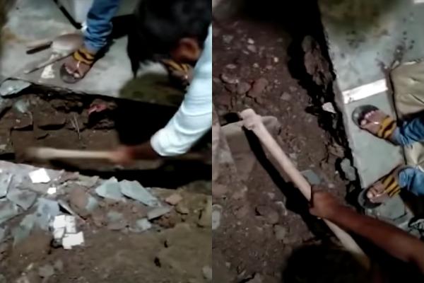 近日,印度孟買發生1件妻殺夫的狠心事件,有名婦女為了和外遇對象在一起,竟聯手殺害結婚9年的丈夫,並把屍體埋在家中廚房的地板下,沒想到卻被6歲女兒意外說出驚悚真相。(圖擷取自youtube)