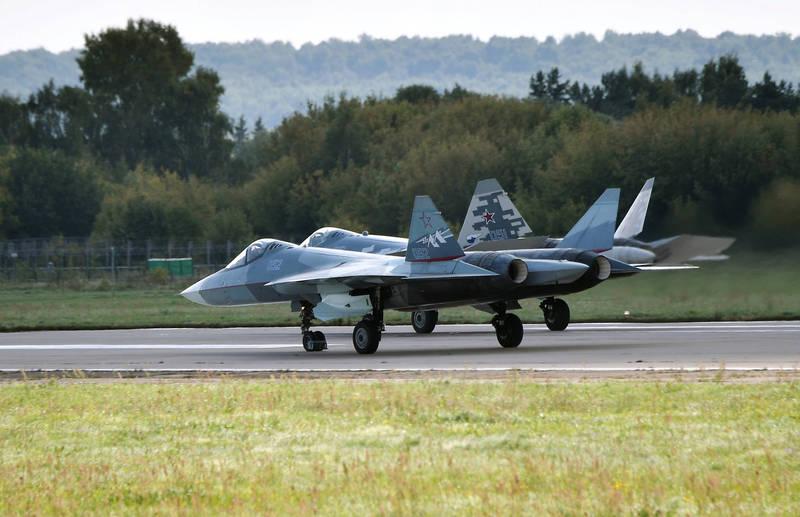 俄國第5代匿蹤戰機Su-57。(路透)