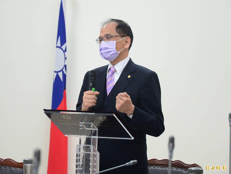 立法院長游錫堃說,防疫物資彌足珍貴,日本與美國接力仗義相助,台灣備感溫暖!(資料照)