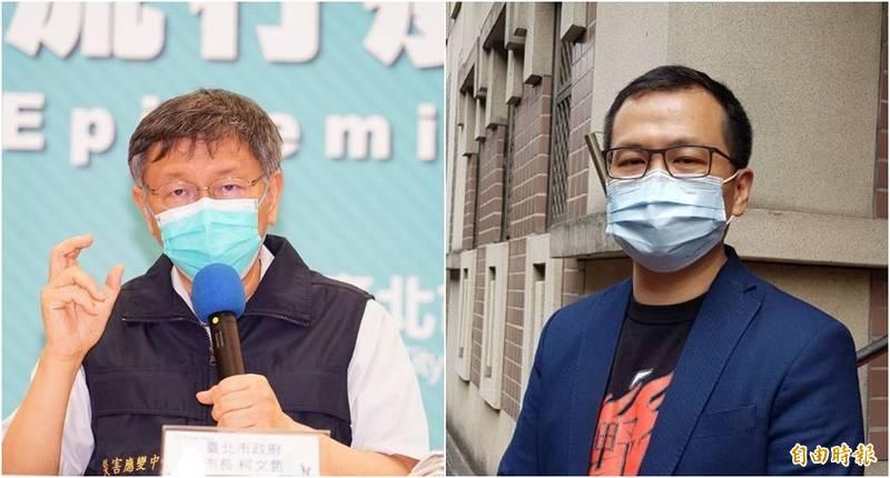 作家苦苓今(5日)在臉書發文狠酸柯文哲(左)、羅智強(右),被網友讚爆。(資料照,本報合成)