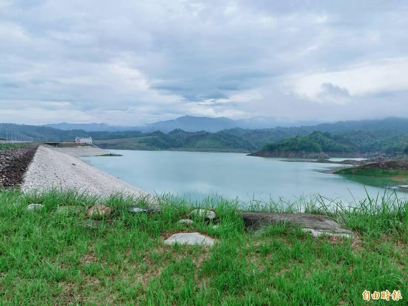 兩天降下366公釐大雨,湖山水庫蓄水率逼近43%。(記者詹士弘攝)
