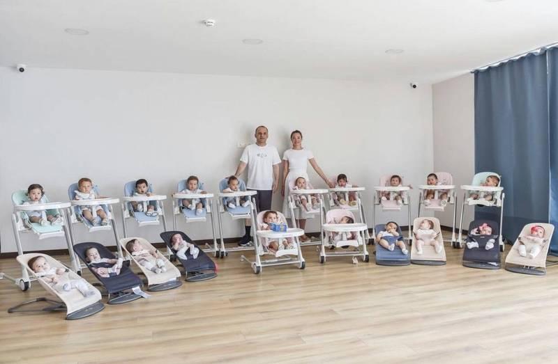 百萬富翁夫婦一年內代孕產下20個寶寶。(圖擷取自IG_galipozturkofficial)