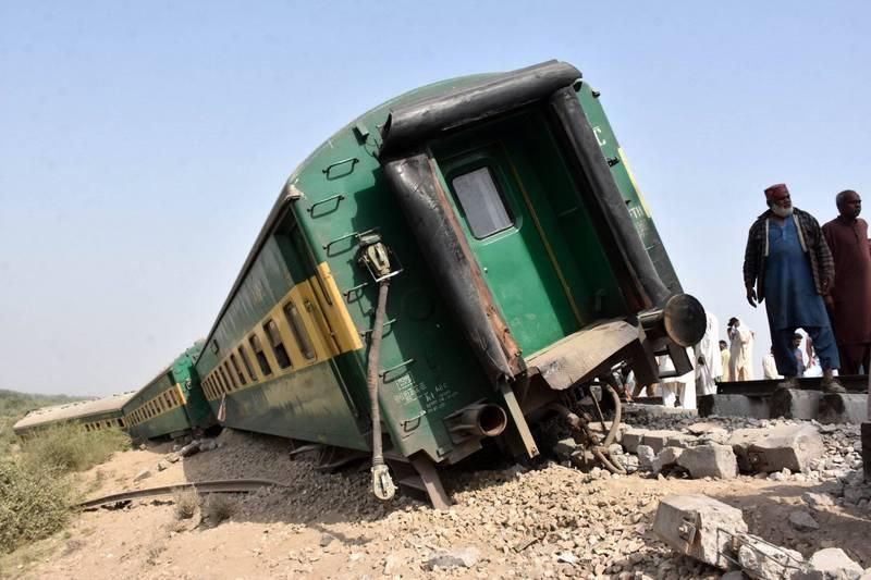巴基斯坦發生列車相撞事故,至少有25人死亡。圖為巴基斯坦過去的火車事故。(歐新社)