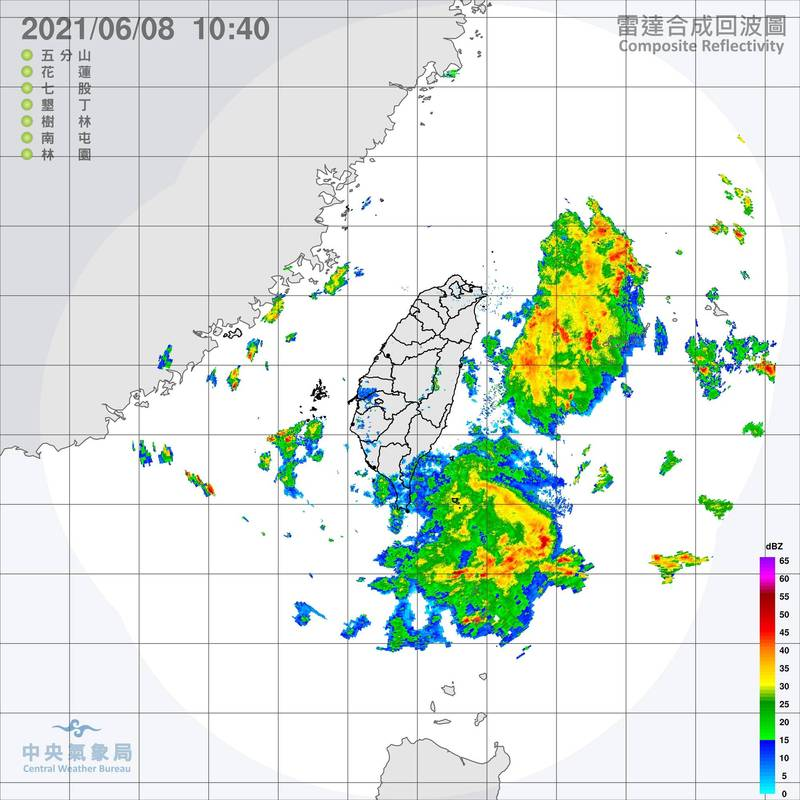 今起鋒面離開台灣,上午高雄以北地區都看到陽光露臉,不過,鋒面殘留水氣仍豐沛,加上太陽照射,午後雷雨還是會帶來較大雨勢。(記者蕭玗欣翻攝)