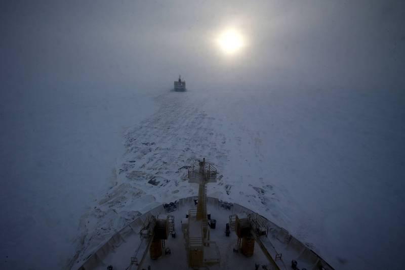 俄羅斯1艘破冰船亞歷山大桑尼科夫號,日前傳出於西伯利亞西北部的亞馬爾涅涅茨自治區1處海冰上,發現1隻狗狗。圖僅示意,與本文無關。(法新社)