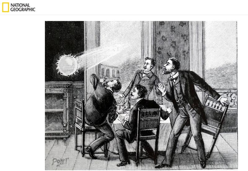 網傳影片宣稱「拍到球形閃電」,查證後發現是電腦特效,並非真實影像。(圖擷取自《National Geographic》網站)