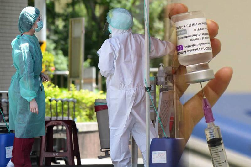 有社區醫師透露,5月底曾為打疫苗清晨去排隊,排了3小時才告知當天只有警察可以打疫苗,醫護人員不能打。(本報合成)