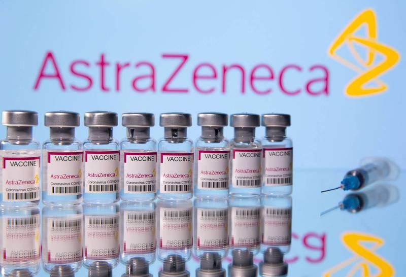 英國公共衛生署最新報告出爐,2劑的AZ疫苗對於武肺的預防效果高達85%至90%。(路透資料照)
