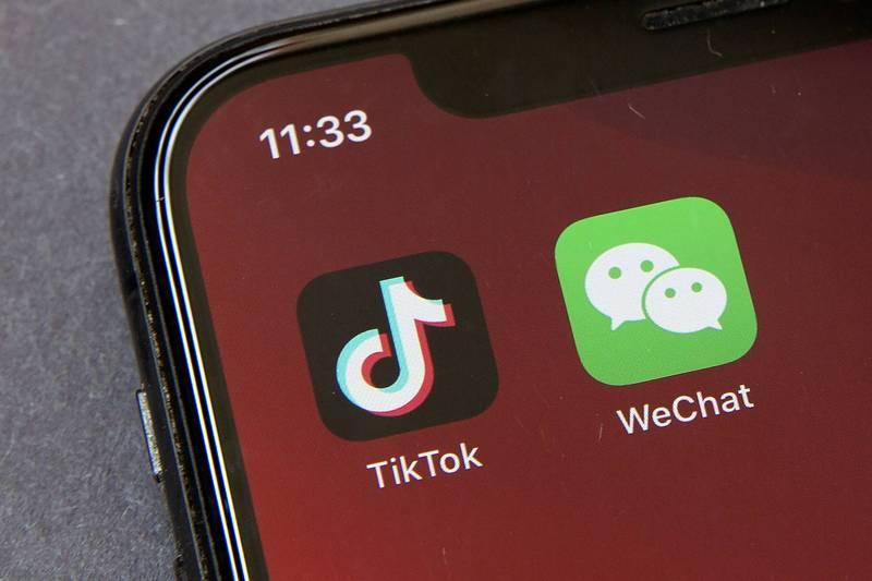 白宮9日宣布,拜登總統已撤銷前總統川普以國家安全為由,禁止中國短影音應用程式「抖音」國際版TikTok和即時通訊程式「微信」(WeChat)的行政命令。(美聯社檔案照)