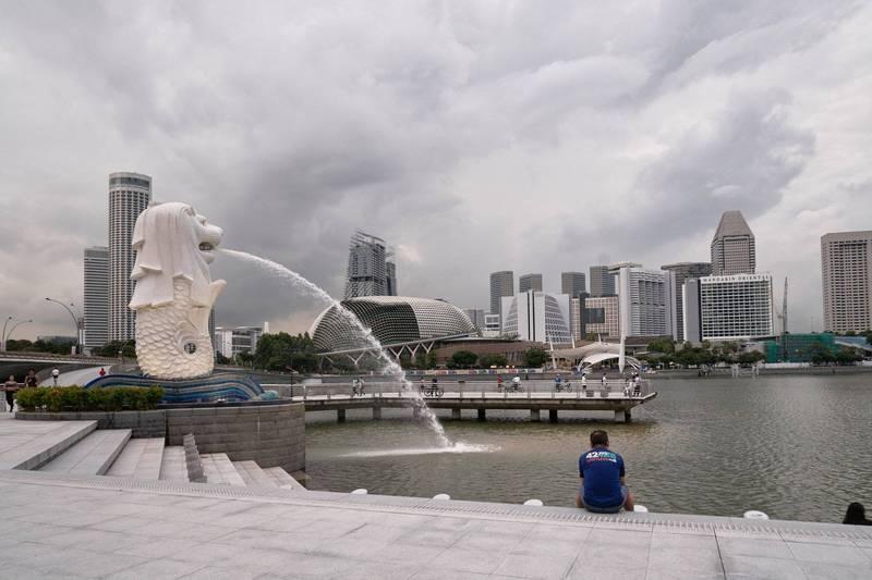 新加坡衛生部表示,最初在印度發現、被世衛組織(WHO)命名為「Delta」的武漢肺炎變異病毒傳播力更強;截至5月31日,新加坡共發現550人感染。圖為新加坡魚尾獅公園。(彭博)