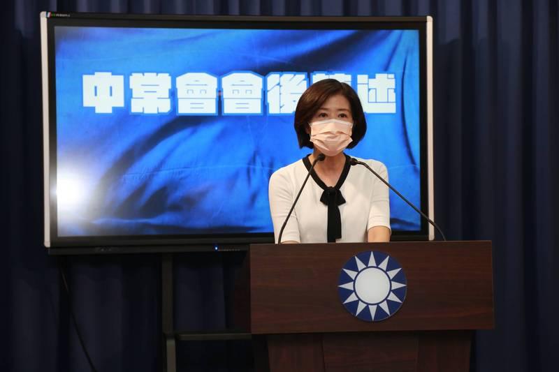 國民黨文傳會主委王育敏。(資料照)