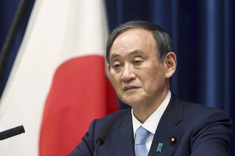 日本首相菅義偉在今天舉行的朝野政黨黨魁討論會中,直接稱台灣為「國家」而非地區。(美聯社)