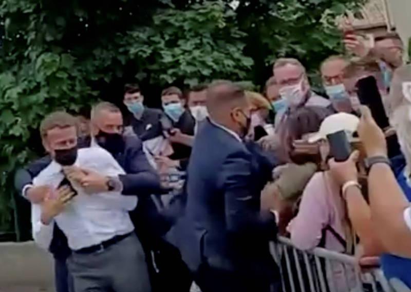 法國總統馬克宏被甩一巴掌 嫌犯是中世紀劍術迷