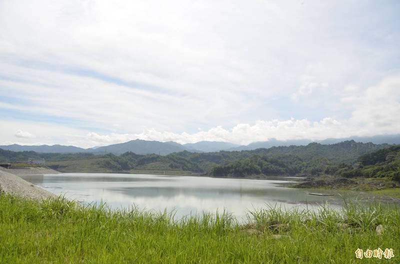 湖山水庫蓄水率已回升至57.21%。(記者林國賢攝)