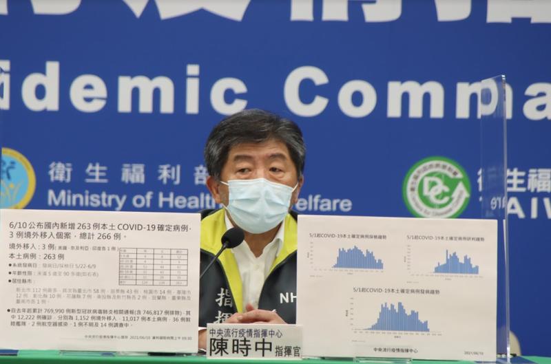 指揮中心指揮官陳時中今表示,經內部討論,決定不以減配縣市疫苗做為處罰手段。(指揮中心提供)