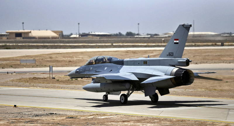 The Ballard Air Base in Salahuddin Province, northern Iraq, is often targeted by extremist groups.  (European News Agency)