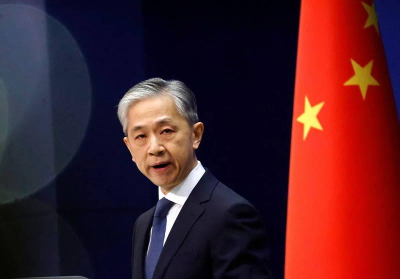 日相菅義偉與在野黨立憲民主黨代表枝野幸男昨談到台灣時,罕見以「國家」來稱呼。中國外交部發言人汪文斌今天表示已要求日方立即作出明確澄清。(路透)