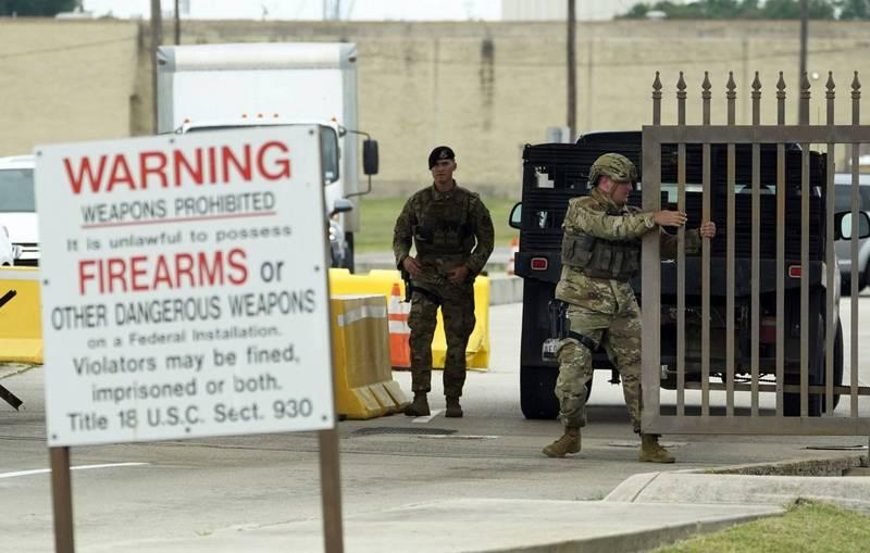 美军德州拉克兰空军基地周边传枪响,基地紧急封锁1小时。(美联社)(photo:LTN)