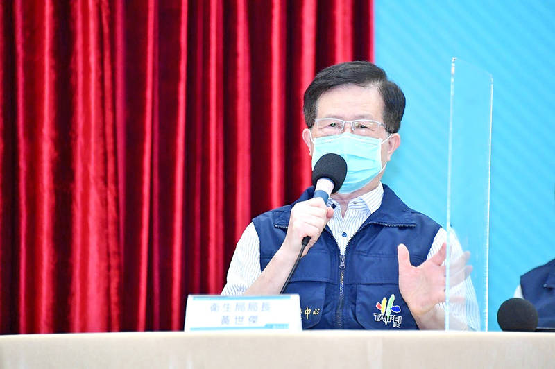 Taipei Department of Health Director Huang Shier-chieg speaks in an undated photograph. Photo courtesy of the Taipei City Government