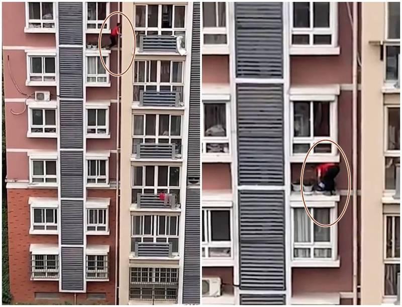 用生命在澆花! 男子全無防護爬6樓窗外 危險舉動嚇傻鄰居