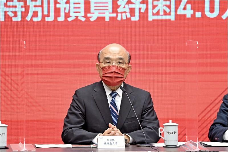 行政院長蘇貞昌昨指示勞動部加強移工防疫管理,要求仲介業者務必配合,做不到就祭出最嚴格的處分。(資料照)