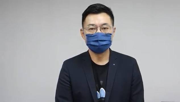 國民黨主席江啟臣今日上午透過影片形式現身回應時事。(截圖自網路)