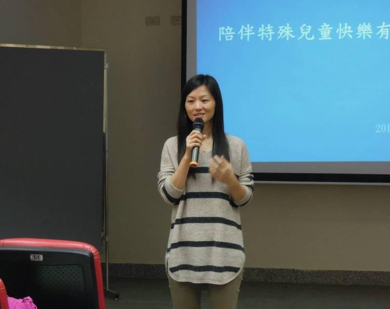 南市2021年優良特教人員、進學國小教師何嘉雯。(南市教育局提供)