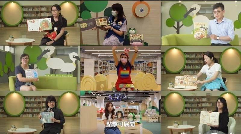 「線上故事屋」由熱心的故事志工投入錄製。(記者洪瑞琴翻攝)