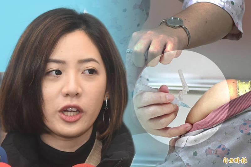 台北市政府副發言人「學姊」黃瀞瑩也完成接種,也引發外界議論。(資料照;本報合成)