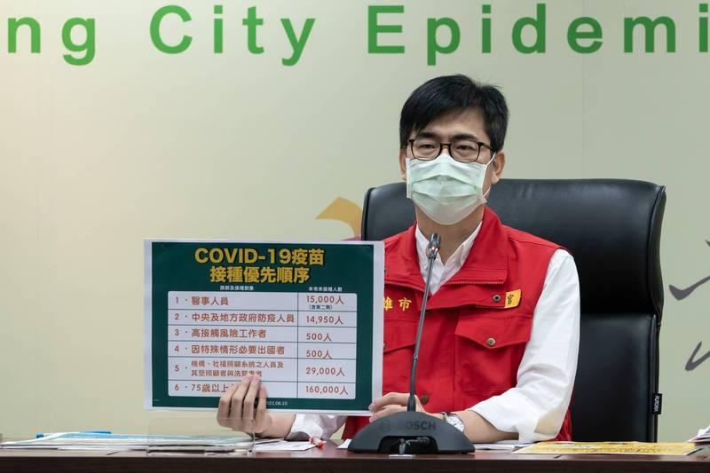 高雄市長陳其邁揭露高雄市採檢疫調流程快速的兩大主因。(高雄市府提供)