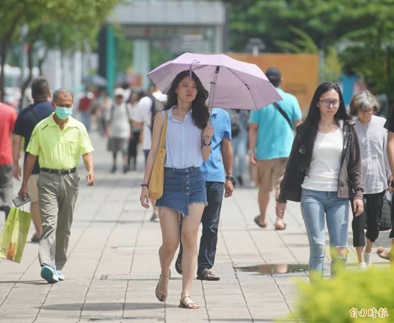 明(12)高溫可能達36度,加上全台各地紫外線都是過量級以上,請大家戶外活動隨時補充水分及留意防曬。(資料照)