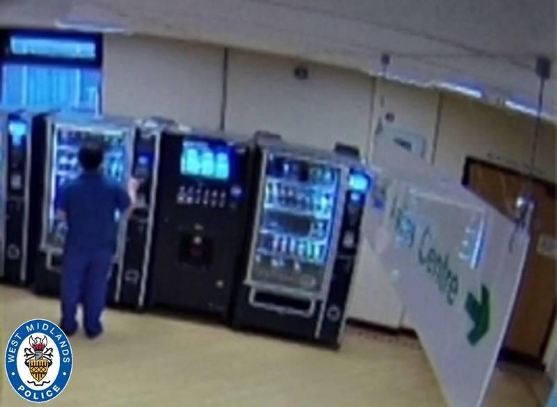 巴莎拉特盜刷以逝病患的卡。(圖片擷取自West Midlands Police)