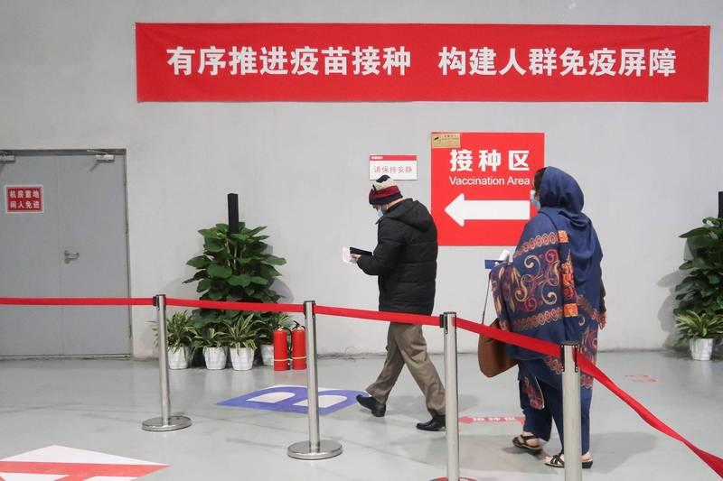 中國國台辦今透露,截至5月底,已至少6.2萬名台灣人在中國接種疫苗。(路透)