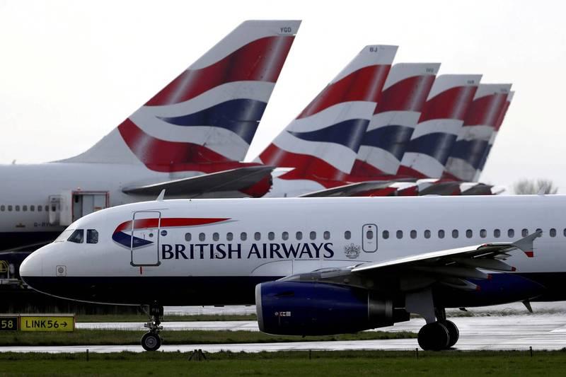 英國航空機師不幸離世。英國航空公司示意圖。(路透檔案照)