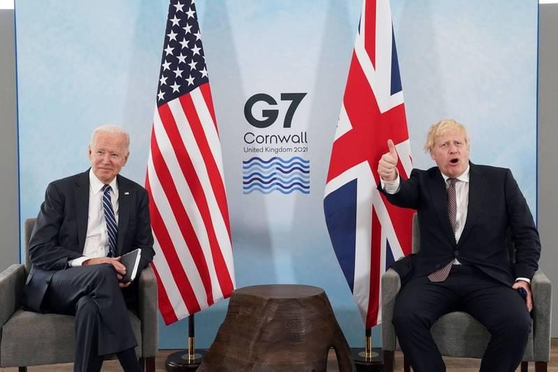 美國總統拜登(Joe Biden)與英國首相強森(Boris Johnson)10日發表聯合聲明,支持世界衛生組織(WHO)再查武漢肺炎(新型冠狀病毒疾病,COVID-19)的病毒起源,地點包括中國。(路透)