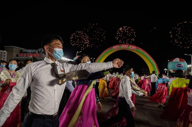 北韓年輕人示意圖。(法新社)