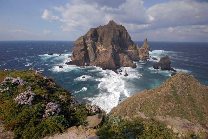 獨島(日本稱竹島)。(路透)