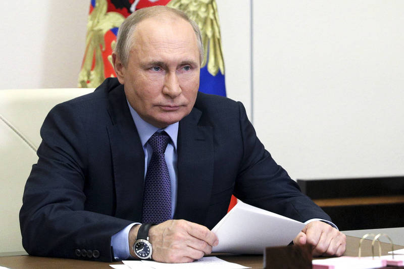 俄總統普廷坦言與美國關係不睦。(美聯社)