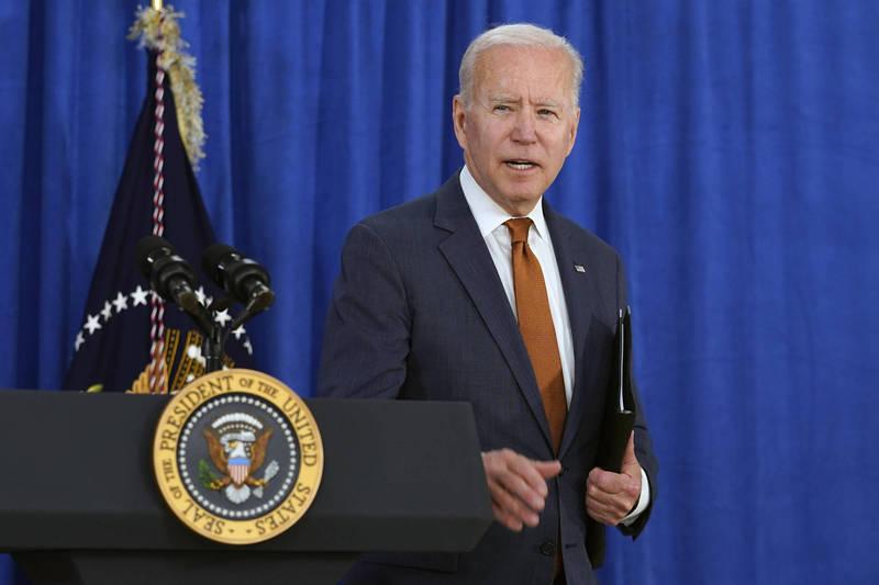 白宮官員說,拜登在美俄總統峰會後會自行舉辦記者會。(美聯社資料照)