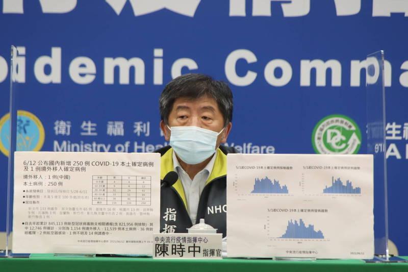 美國宣布將捐贈武漢肺炎疫苗,中央流行疫情指揮中心指揮官陳時中說,已在做最後簽約程序。(指揮中心提供)
