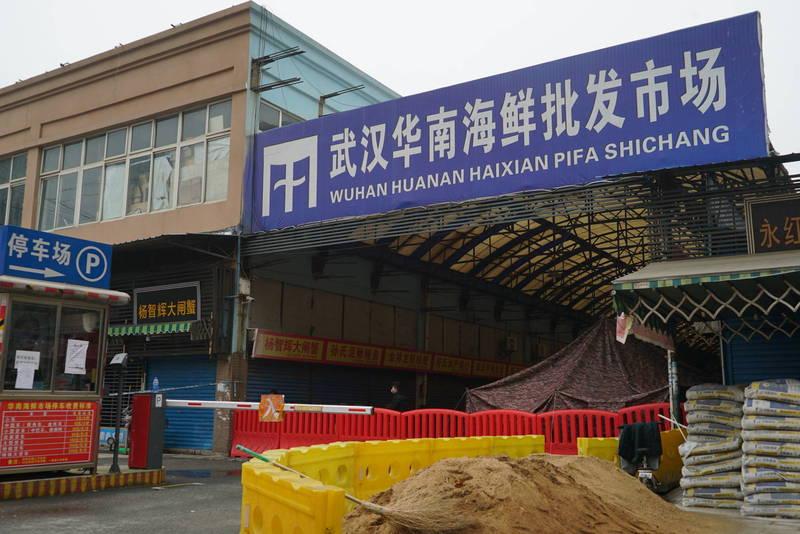 中國武肺爆發地「華南海鮮市場」,曾多次被指販售的野味很有可能是病毒源頭。(美聯社)