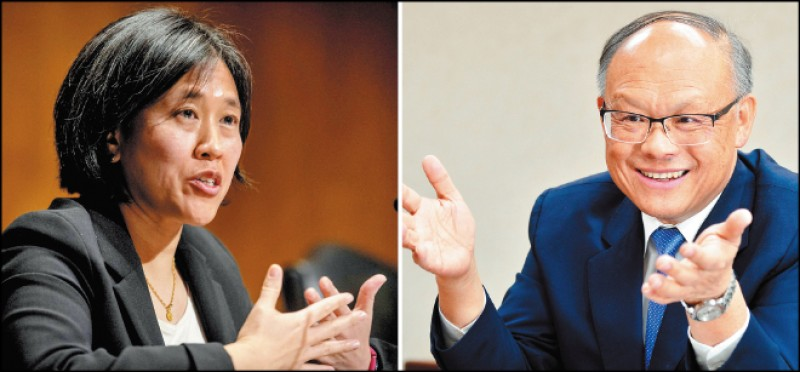 美國貿易代表戴琪(左圖,路透資料照)十日與鄧振中(右圖,本報資料照)舉行視訊會議敲定,台美將在未來數週內召開第十一屆TIFA會議。