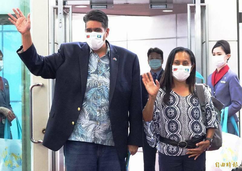 帛琉總統惠恕仁4月率團訪台,啟動台帛旅遊泡泡。旅遊泡泡目前因台灣疫情升溫暫停,但並未取消。(資料照)