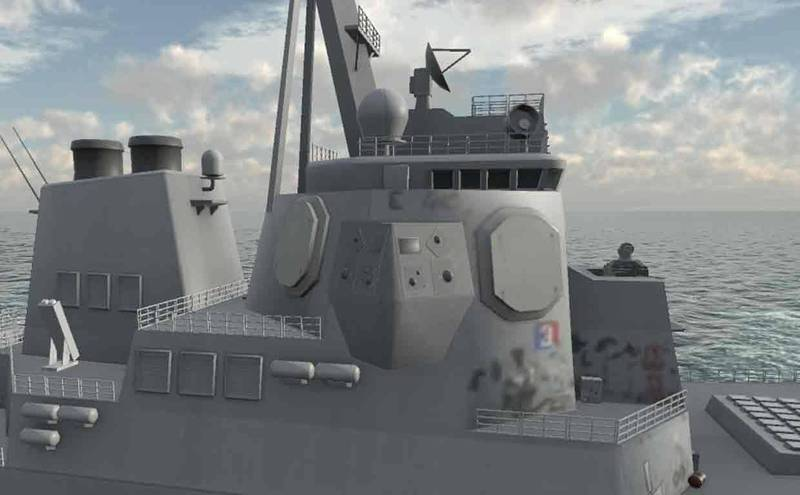 美軍神盾艦安裝SEWIP Block 3電子攻擊系統示意圖。(取自諾斯洛普格魯曼公司官網)
