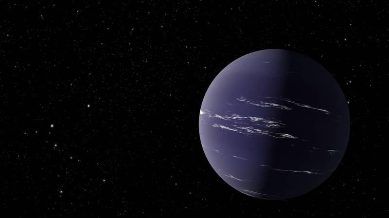 美國太空總署(NASA)有新發現,在距離地球90光年外,有1顆擁有豐富大氣層的行星「TOI-1231 b」,可能有雲層。(圖取自NASA新聞稿)