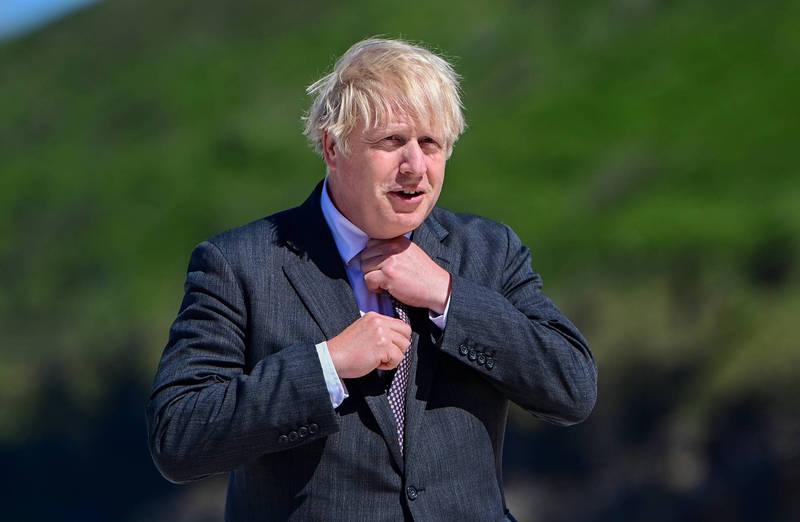 英國首相強森(Boris Johnson)。(彭博)