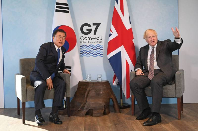 日本外務省等單位表示,這將是G7領袖聲明首度提及台灣情勢;領袖聲明預料也將載明支持東京奧運與帕運。(法新社)